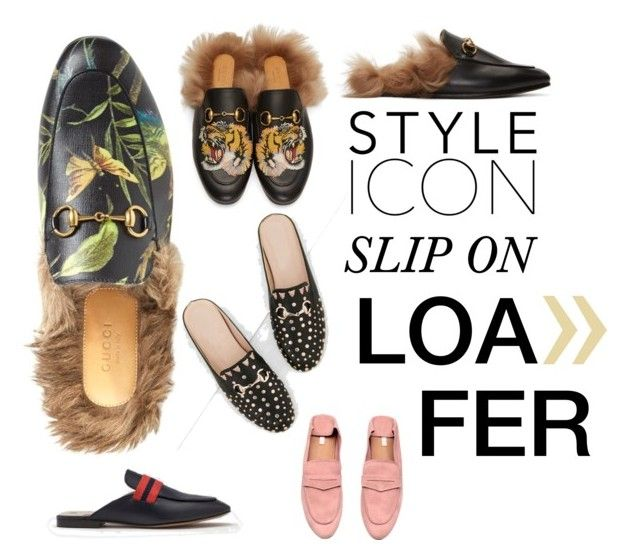 """slip on loafer"" by linisecheverri on Polyvore featuring moda, Gucci y H&M"