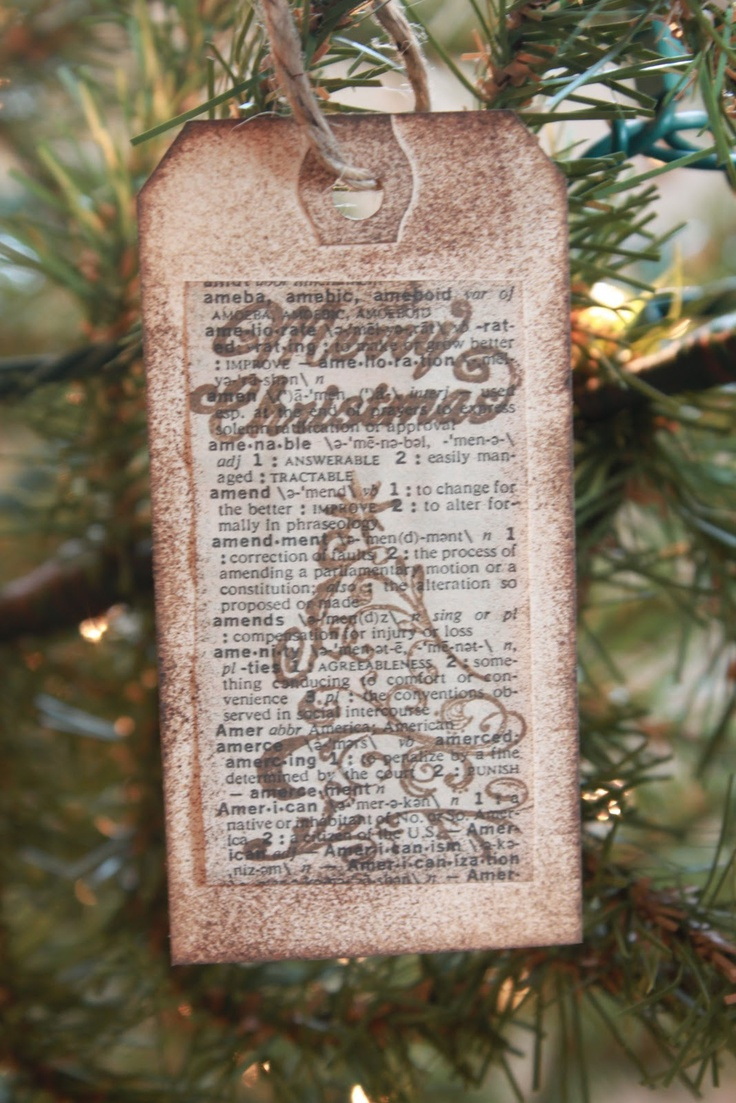 19 best Themed Christmas Tree - Library images on ... |Library Book Ornaments
