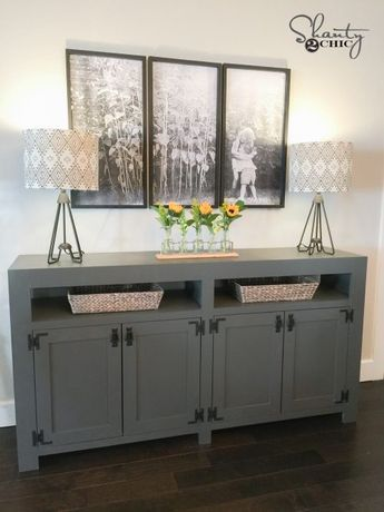 DIY Modern Farmhouse Media Console Table