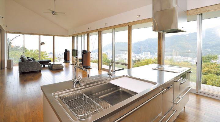 「BAY」実例集 | キッチン[システムキッチン] | キッチンでライフスタイルをデザインする トーヨーキッチン