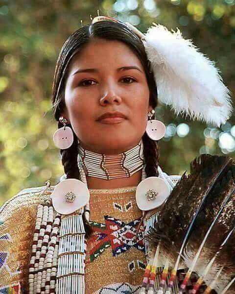 Native American woman.