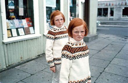 "Ed Van der Elsken  Belgie, 1968 (Twins)  Chromogenic print  12 x 16""  ed 12"