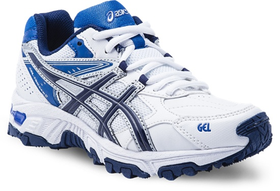 Gel Trigger 8   White/Blue/Silver  Available in sizes 1 - 7