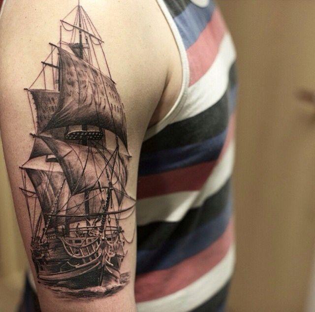 galleon tattoo inspirational tattoos pinterest tattoos and body art. Black Bedroom Furniture Sets. Home Design Ideas