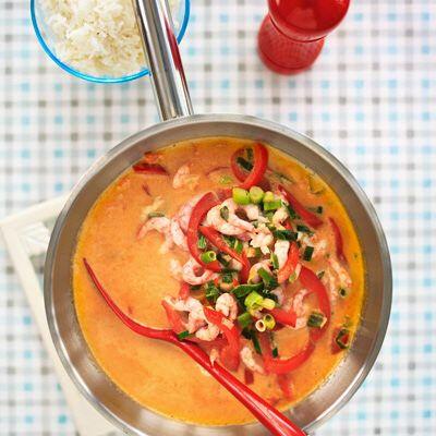 Curryräkor med ris