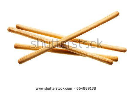 breadsticks isolated on white