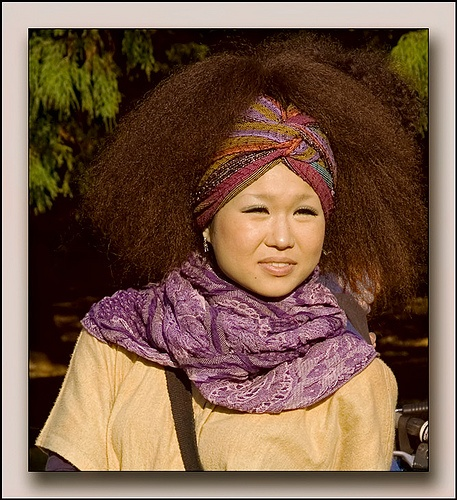 An afro hair day in Tokyo.  Ye, they rock afros in Japan too!: Afro Matic, Adorable Fashion, Natural Hairstylists, Afros Rock, Rock Afros, Styled Naturally, Afro Hair, Afro A Licious Ness, Hair Rocks