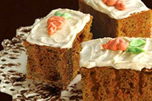 Moist and lightly spiced, this carrot cake will garner rave reviews!