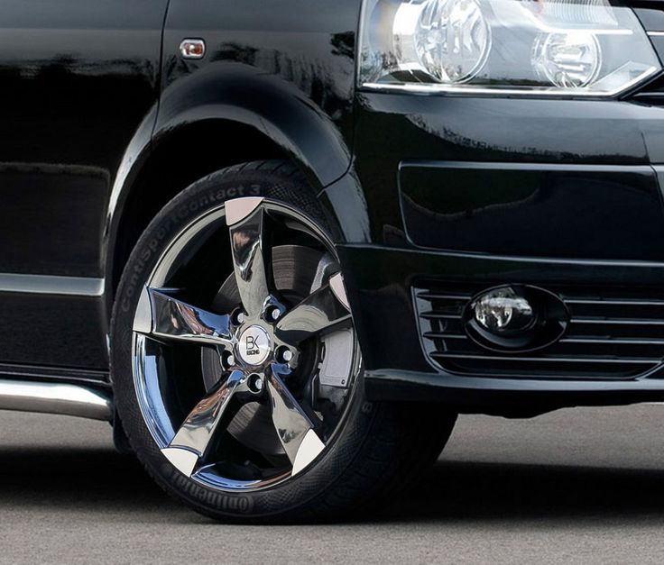 4 815kg Rated Graphite Mirror Finish Alloy Wheels 18   255/4518 Tyres T5 Van VW Save On Tyres Direct 01392203051