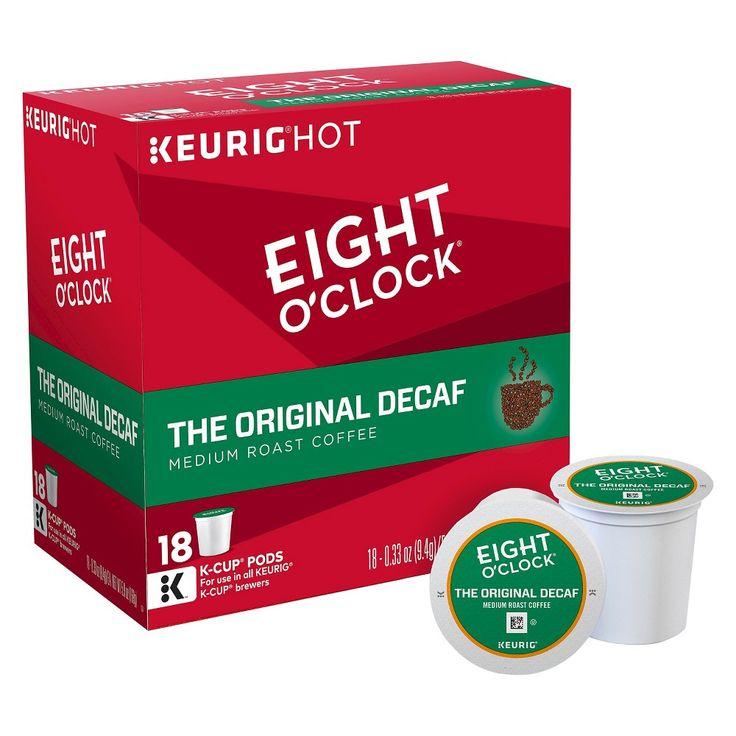Eight O'Clock The Original Medium Roast Coffee - Decaf - K-Cup Pods - 18ct