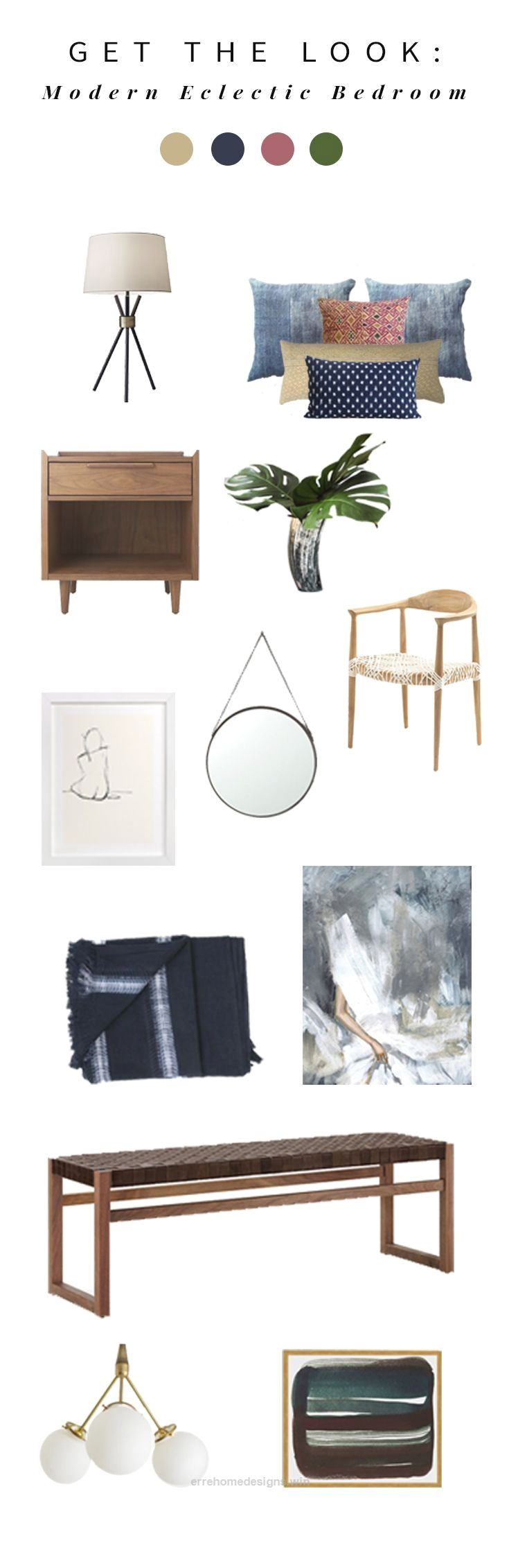 Beautiful Interior stylist Anna Smith shares her most recent design for a modern, eclectic bohemian bedroom and how you can get the look! The post Interior stylist Anna Smit ..