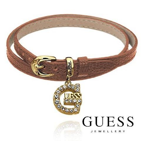 GUESS Bracelet- We've got GUESS items on offer for a limited period, so grab your 40% discount while you can! These leather wrap friendship bracelets are all the rage this summer. http://www.sparkly.com.au/brands/guess-jewellery/lthr-wrap-bra-g-chrm-brn-gl.html