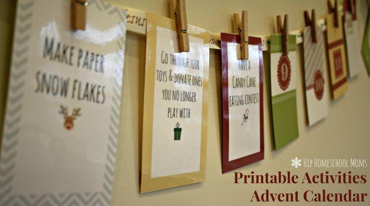FREE Printable Advent Activities Calendar