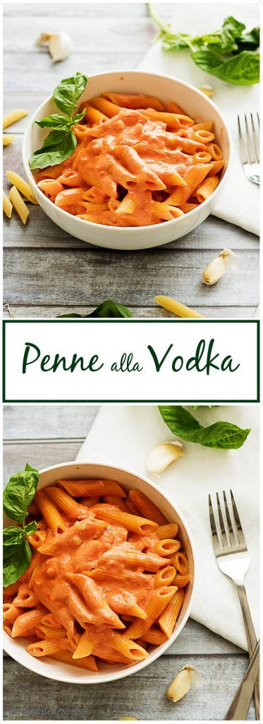 Penne Alla Vodka is the perfect blend of tomato, heavy cream, garlic, and onions simmered together to make a unique, pink sauce. via @berlyskitchen