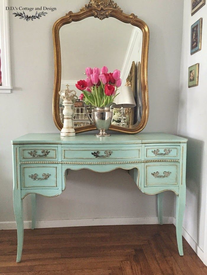 Painted French style Vanity : D.D.'s Cottage