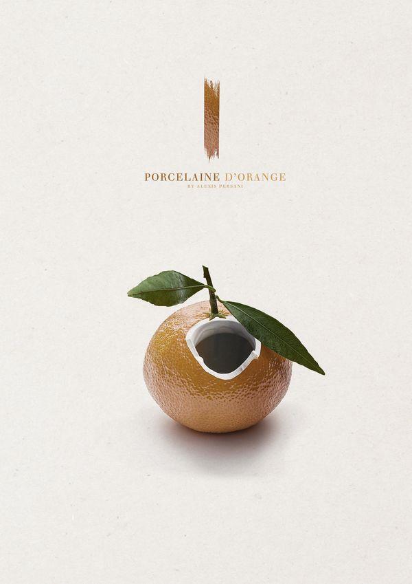 /// Porcelaine de fruits /// by Alexis Persani, via Behance