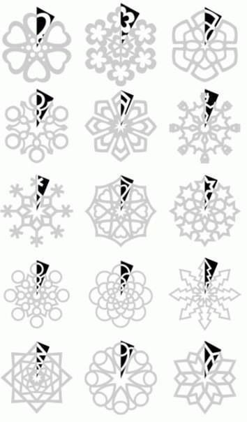 How to cut paper snowflakes/ como cortar copos de nieve de papel: