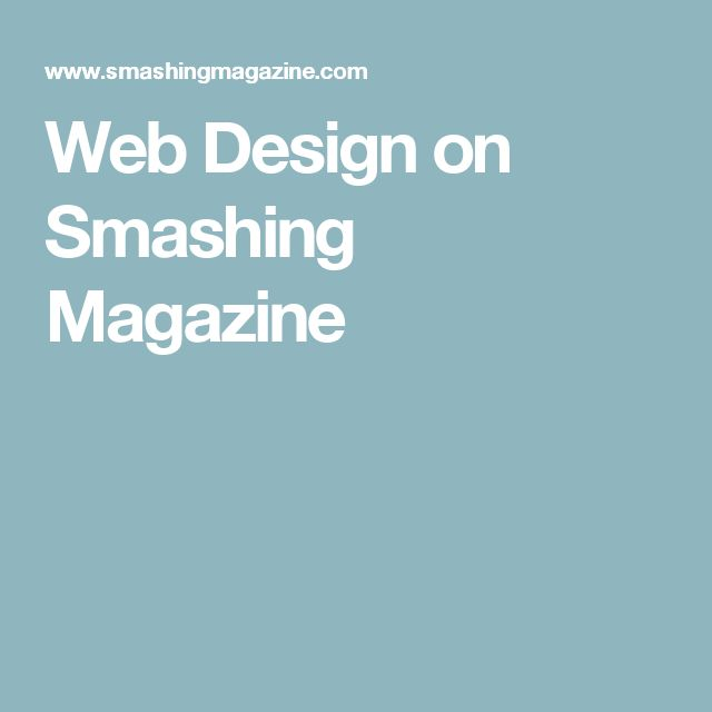 Web Design on Smashing Magazine