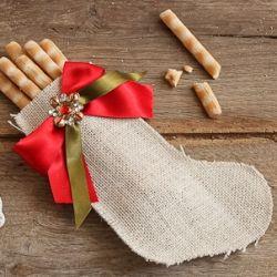 calza della befana porta grissini - DIY epiphany stocking sticks bread for a fun table!