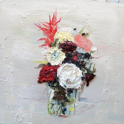 "Allison Schulnik, ""Flowers for Visitors #3"""