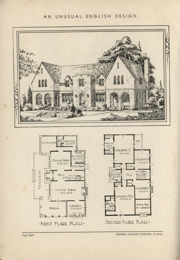 266 best images about vintage home plans on pinterest for Historic tudor house plans