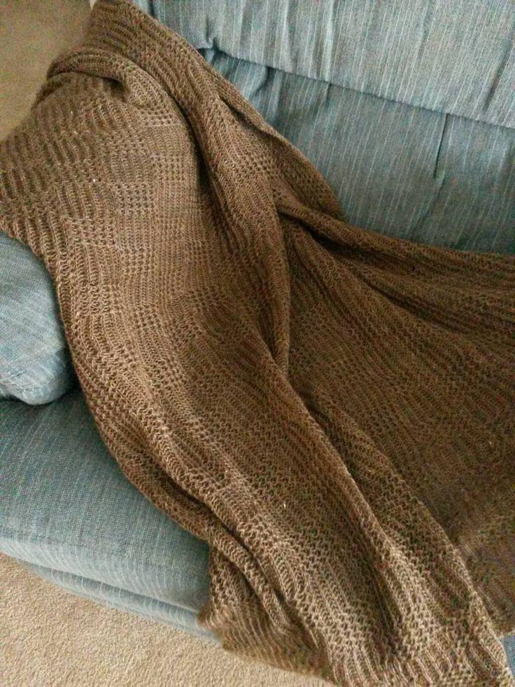 Suri Alpaca Blanket/Throw/Wrap, Natural Brown,Basketweave Knit Design, Handmade Alpaca by BreezyRidgeAlpacas on Etsy