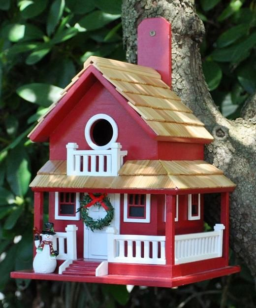 salvaged wood birdhouse designs adding beautiful yard decorations to winter backyards - Birdhouse Design Ideas