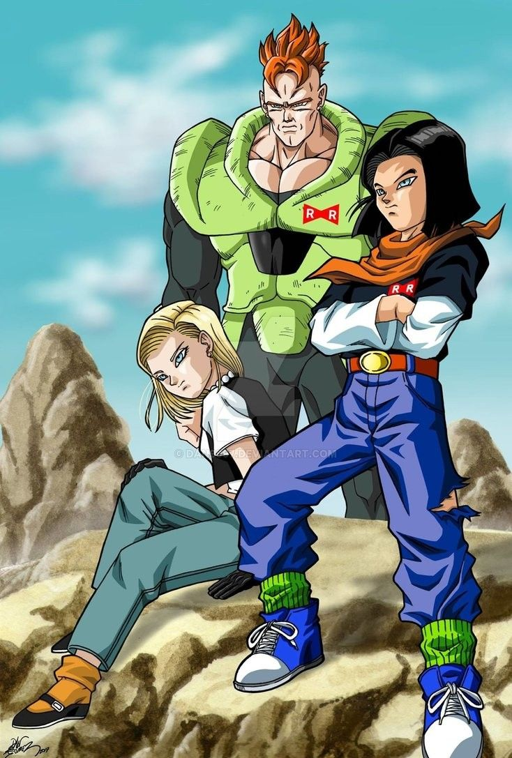goku vs android 16 17 and 18