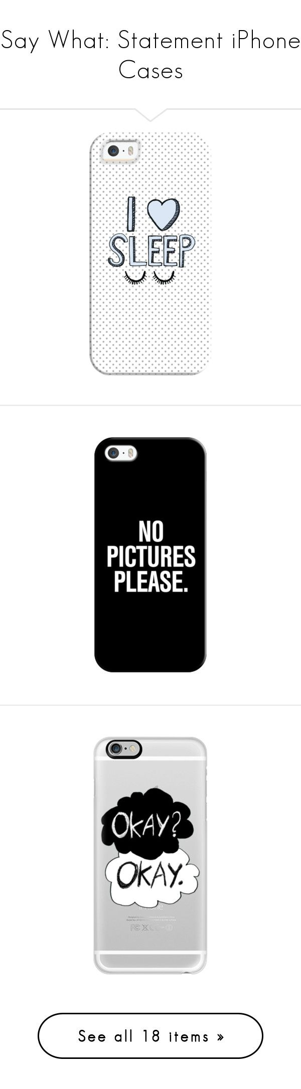 """""""Say What: Statement iPhone Cases"""" by polyvore-editorial ❤ liked on Polyvore featuring iPhonecases, accessories, tech accessories, phone cases, phone, cases, electronics, iphone case, apple iphone cases and iphone cover case"""