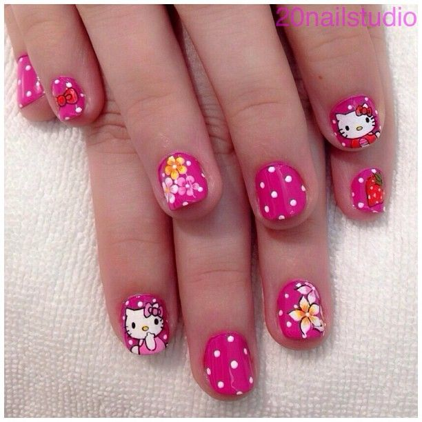 90 best hello kitty nails images on pinterest hello kitty nails 20 cute hello kitty nail art designs page 3 of 20 beautyhihi prinsesfo Images