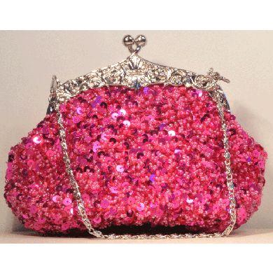 Pink Beaded Bag my favourite pink sparkly yyyyyyyyyyyaaaaaaa