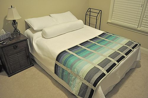 """Gradiance Bed Runner"" Free Quilt Pattern designed by John Q. Adams for Quilt Dad from Art Gallery Fabrics"