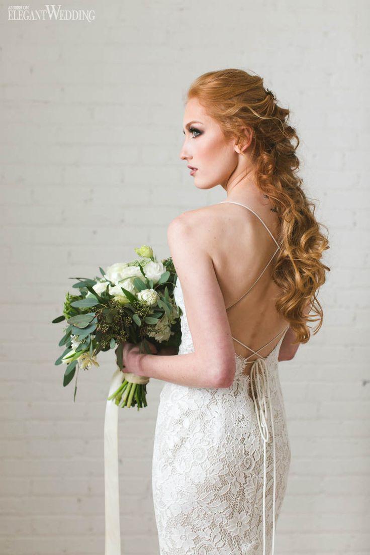 Fishtail Bridal Braid, Redhead Bridal Hair and Makeup | 3 Spring Bridal Beauty Looks For 2017 www.elegantwedding.ca