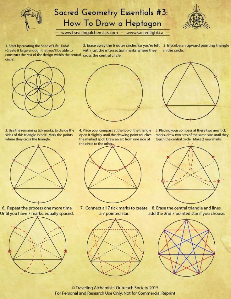 REFERENTES: Diseño Geométrico  Sacred Geometry Essentials #3 : How to draw a Heptagon