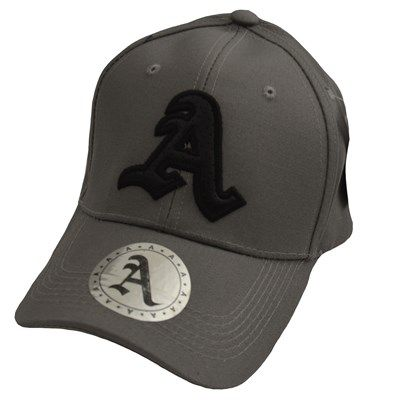 Erkek A Nakış Logolu Spor Cap Şapka Gri