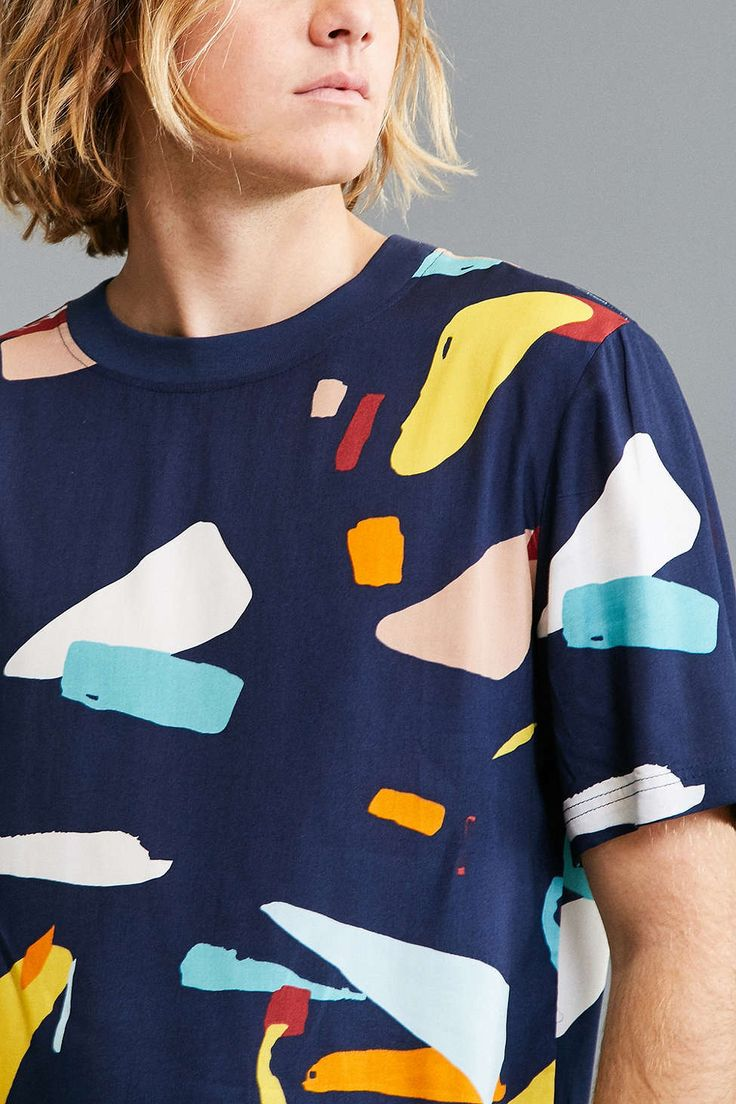 Native Youth Woven Organic Displacement Tee - Urban Outfitters