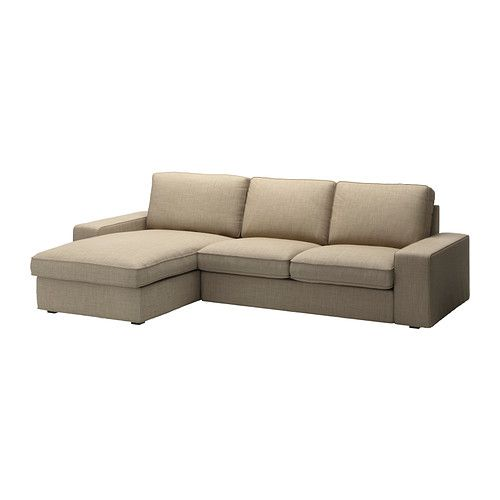 "$879 110"" long, very nice size--KIVIK Loveseat and chaise lounge - Isunda beige  - IKEA"