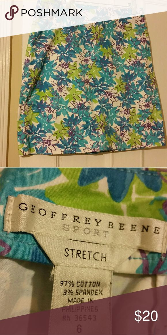 Geoffery beene summer sports skirt Turquoise green purple summer casual skirt Geoffrey Beene Skirts Mini