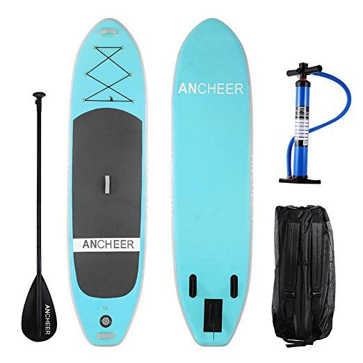 """Ancheer AS10 10' PVC Inflatable Stand Up Paddle Board , iSUP Board with Adjustable Paddle and Dual Action Pump and Backpack, 6"""" Thick //Price: $0 & FREE Shipping //     #hashtag1"""