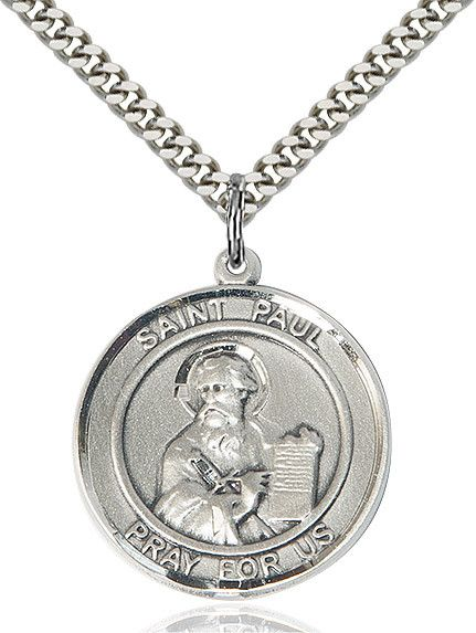 """St. Paul The Apostle Sterling Silver 1"""""""