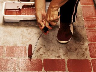 Beautiful Turn Your Ordinary Sidewalks Into This Idea By Painting A Faux Brick  Walkway.