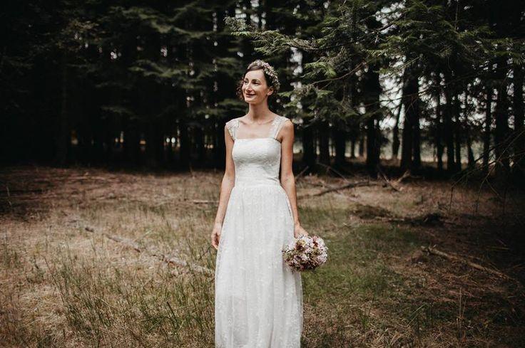 romantic custom made wedding dress, lace