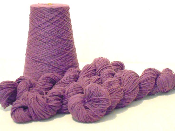 Knitting Yarn, Phoenix Dye Works, 2 Ply Acrylic Yarn, Amethyst Color, 3 Skeins, Y175