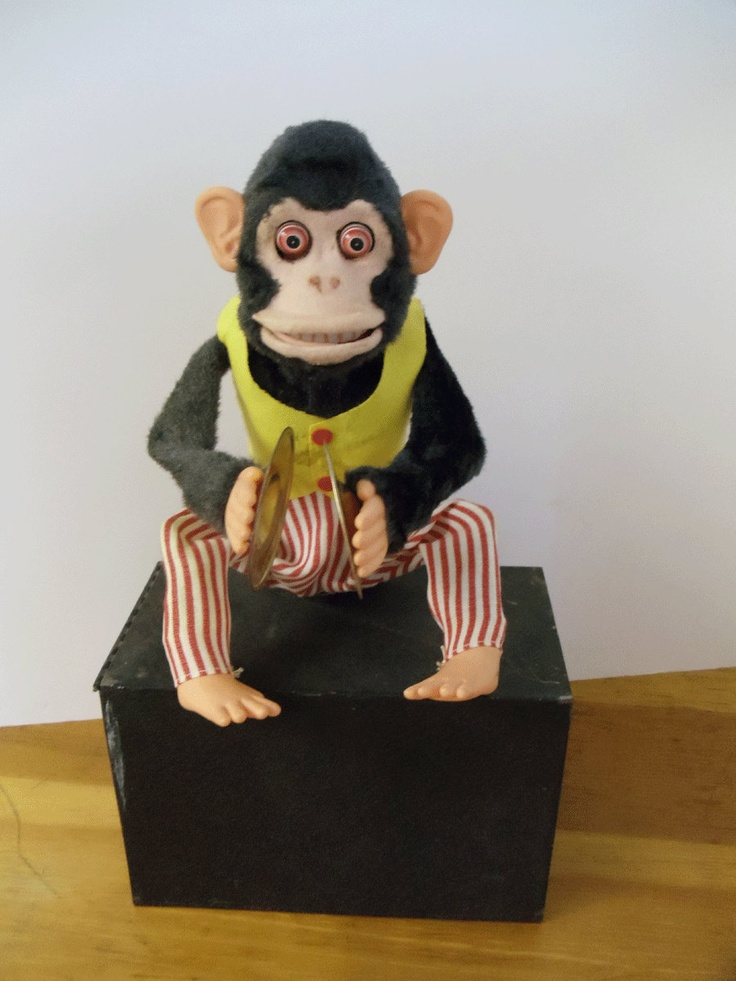 Vintage Monkey with Clapping Cymbals 1960's - WORKS - Battery Operated - TOY STORY 3 monkey. $125.00, via Etsy.