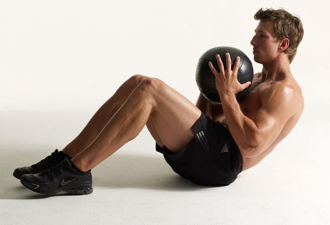Ab Exercise | Men's Health - Good exercises to add to your routine, using a medicine ball. #fitness