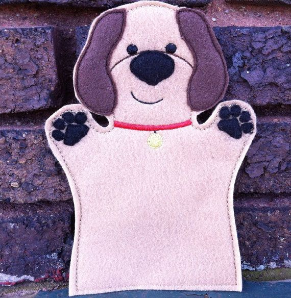 Dog  Pet Set  Animal Felt Hand Puppet by ThatsSewPersonal on Etsy, $10.00