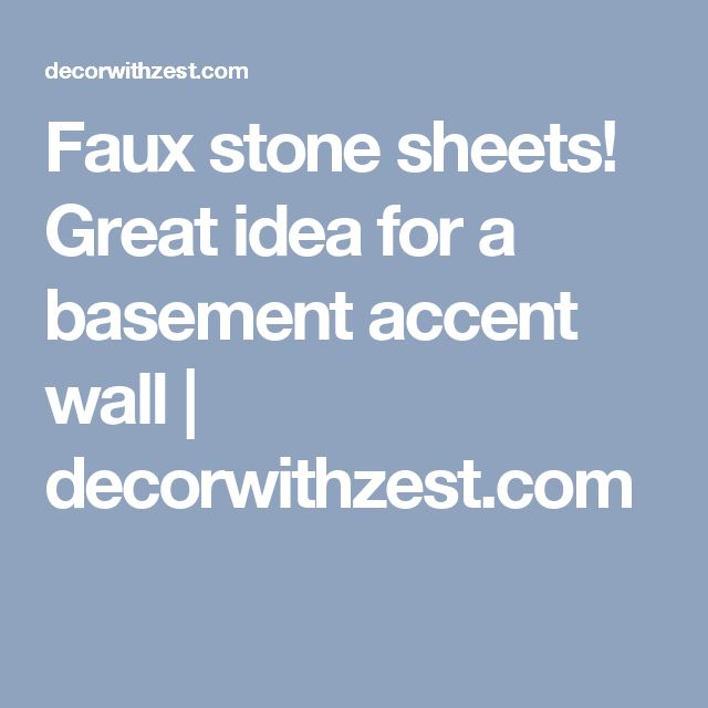 Faux stone sheets! Great idea for a basement accent wall | decorwithzest.com