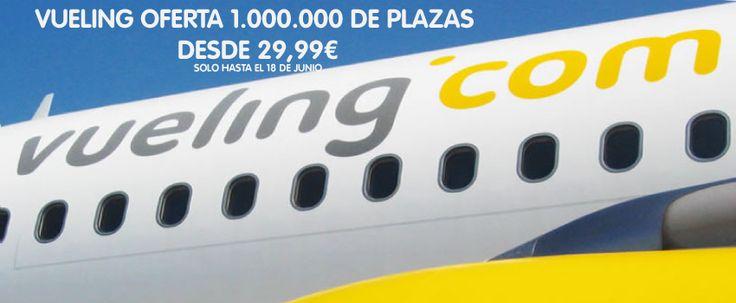 Vueling oferta un millón de vuelos desde 29,99€