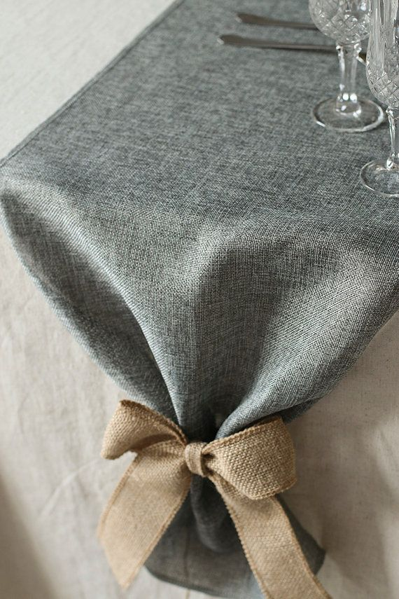Havent spot the size you need? Please contact us and we will make it. We love custom made order! Color: Grey Width: 14 inches Here is Brown color table runner: https://www.etsy.com/listing/249853395/14-wide-brown-faux-burlap-table-runner?ref=listings_manager_grid Here is matched Dark Red burlap favor bag: https://www.etsy.com/listing/210210508/4-x-6-inch-burlap-bags-jute-pouches?ref=listings_manager_grid Add extra flare to your ...