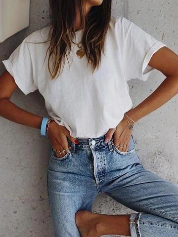 Frauen Casual Tops Tunika T-Shirt